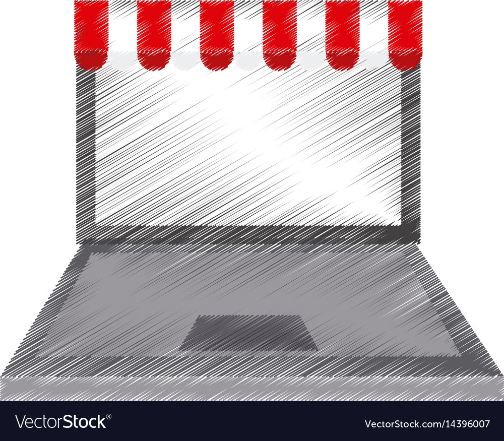 Online shopping or ecommerce icon image