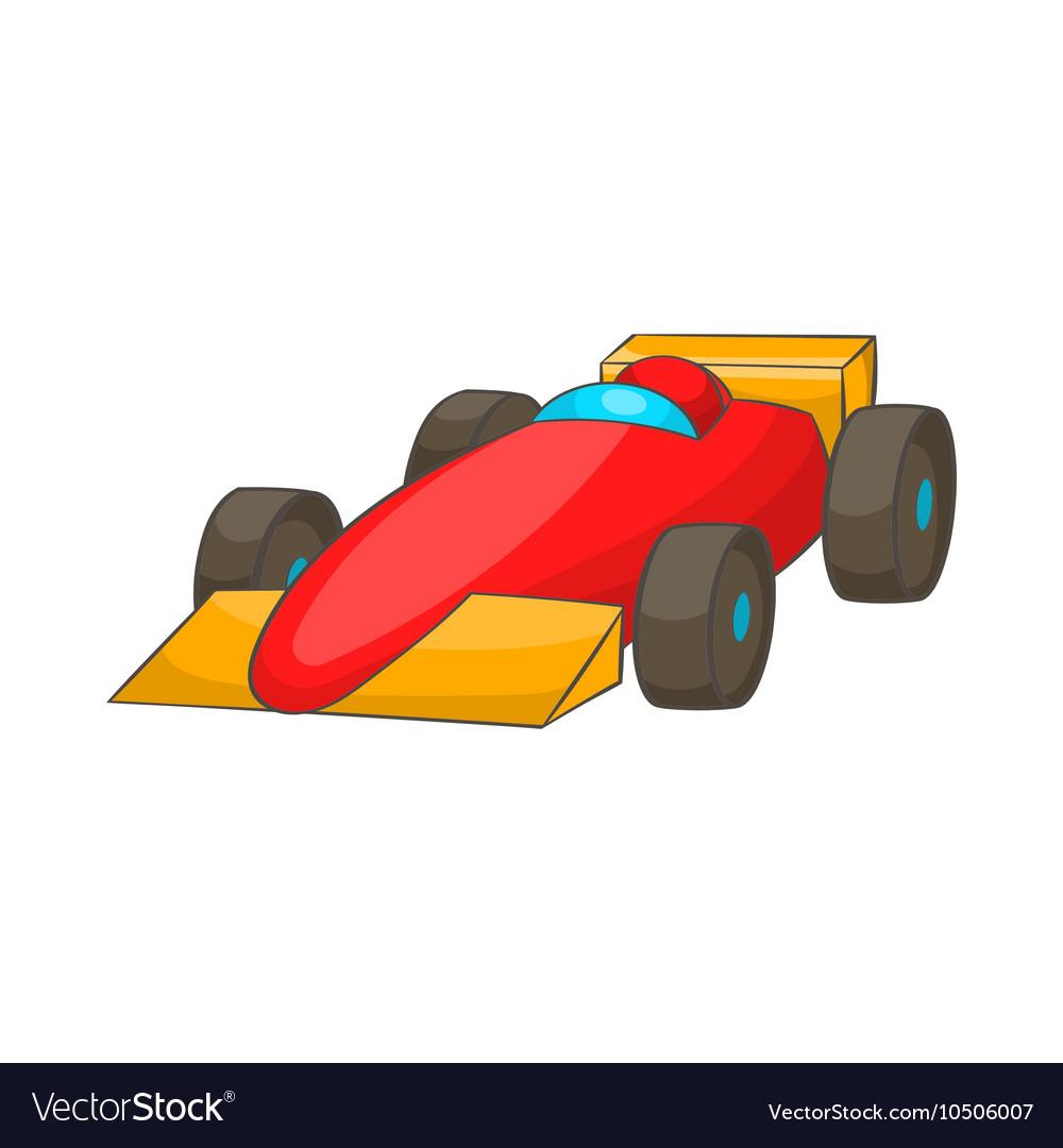 Race car icon cartoon style vector image