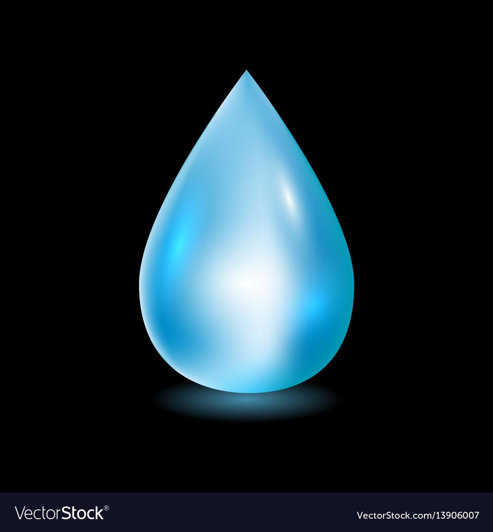 Water drop clean water drop vector image