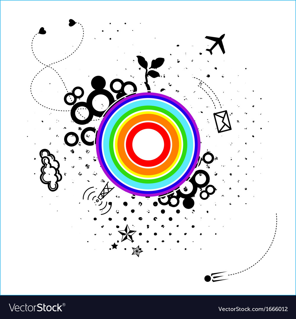 Abstract card with unknown planet vector image