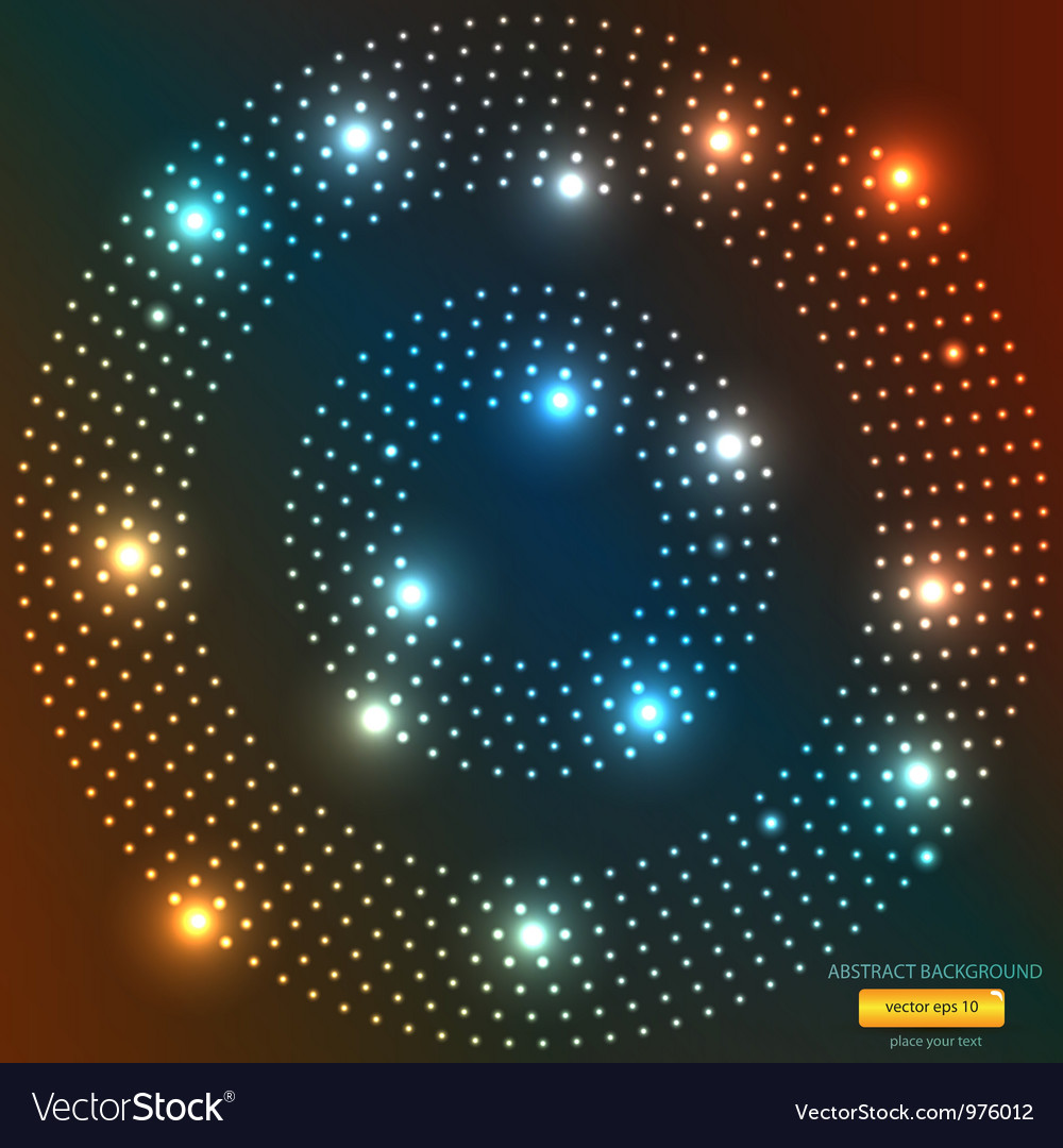 abstract light circle backround royalty free vector image