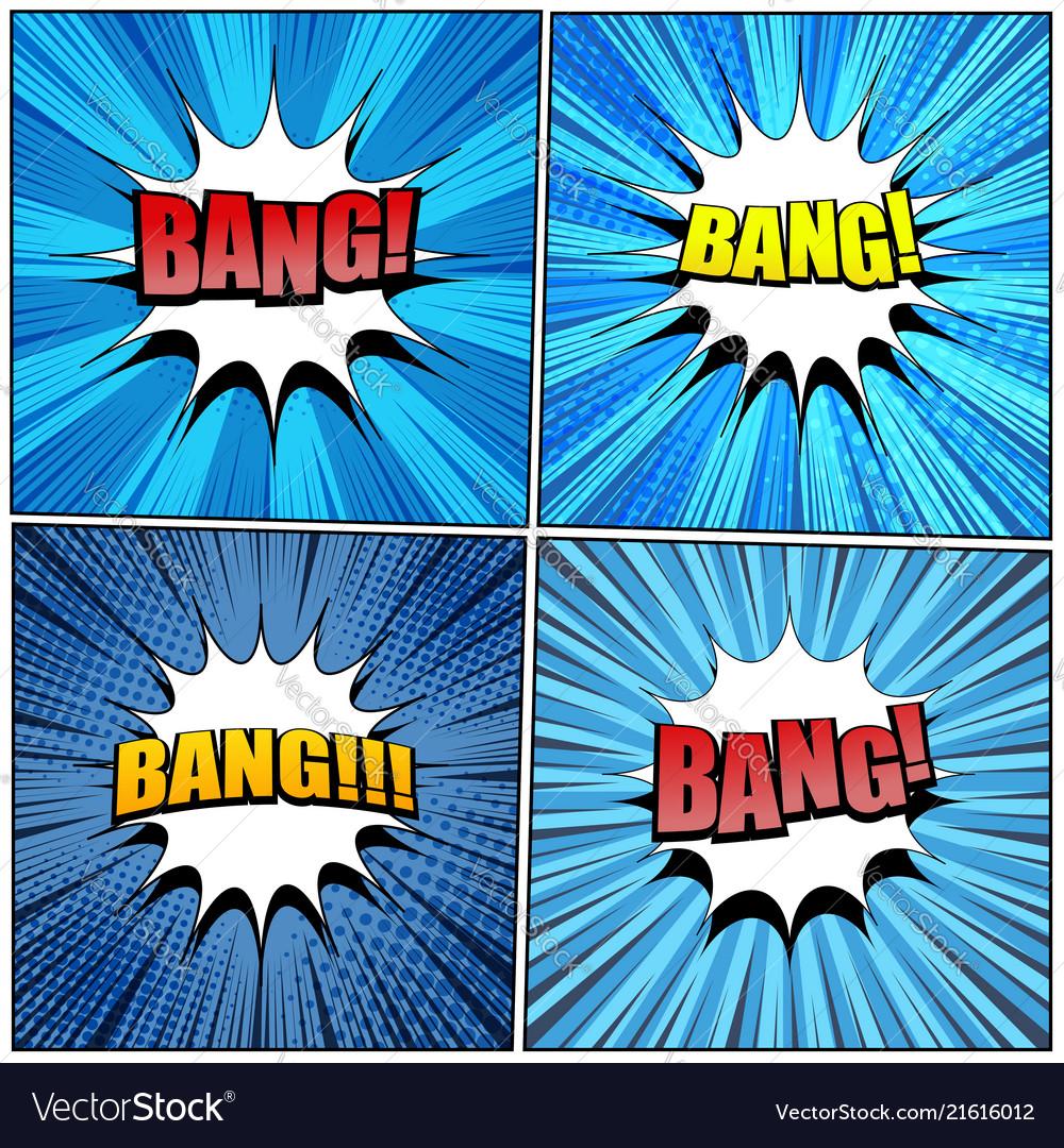 Big collection of bang comic wording