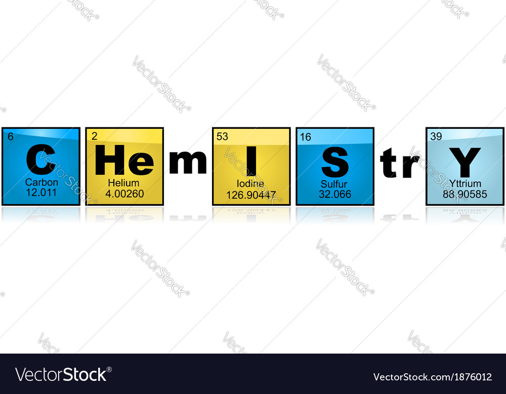 Chemistry with elements vector image