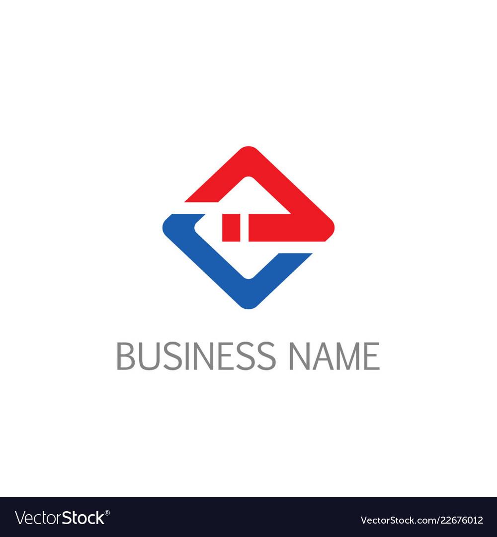 Square line business company logo