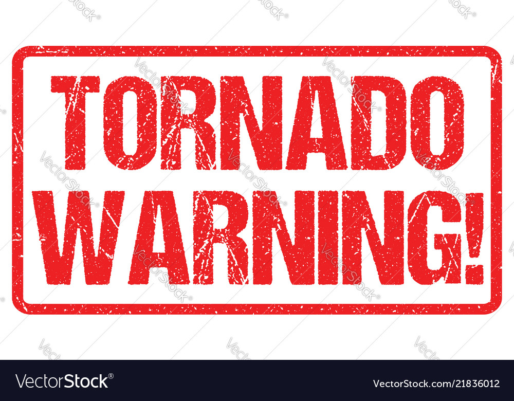 Tornado warning sign weather alert typo header