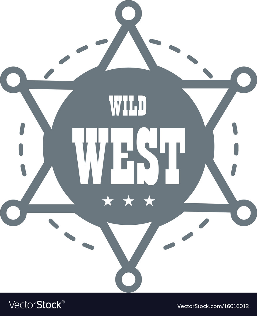 Wild west logo simple style
