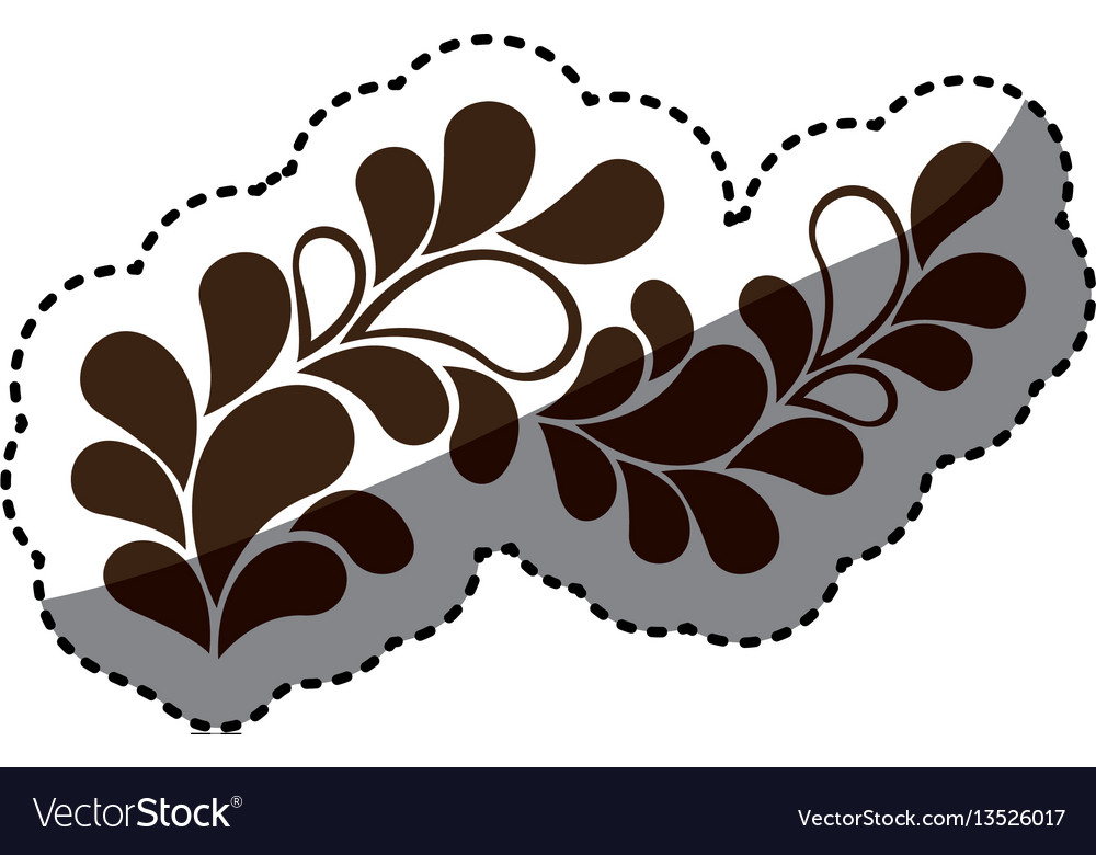 Brown leaves decoration icon