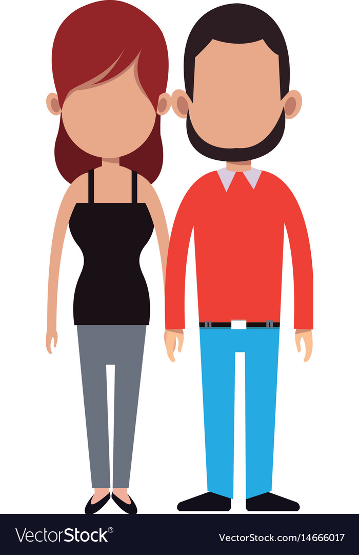 cartoon couple holding hand romantic image vector image rh vectorstock com Sweet Couple in Love Cartoon cartoon image of couple holding hands