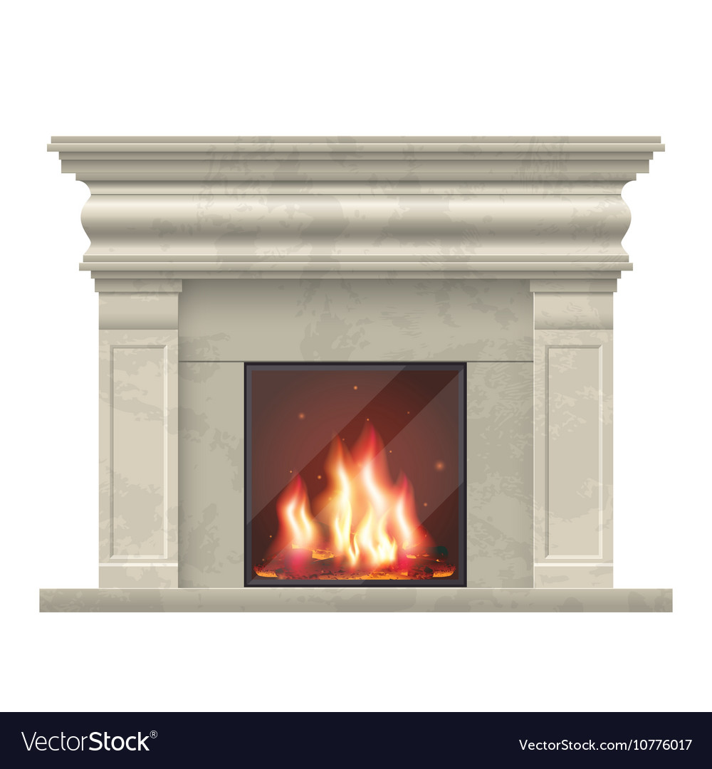 Classic fireplace for living room interior