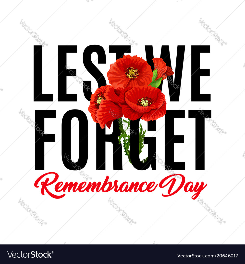 Remembrance Day Poppy Icons Royalty Free Vector Image