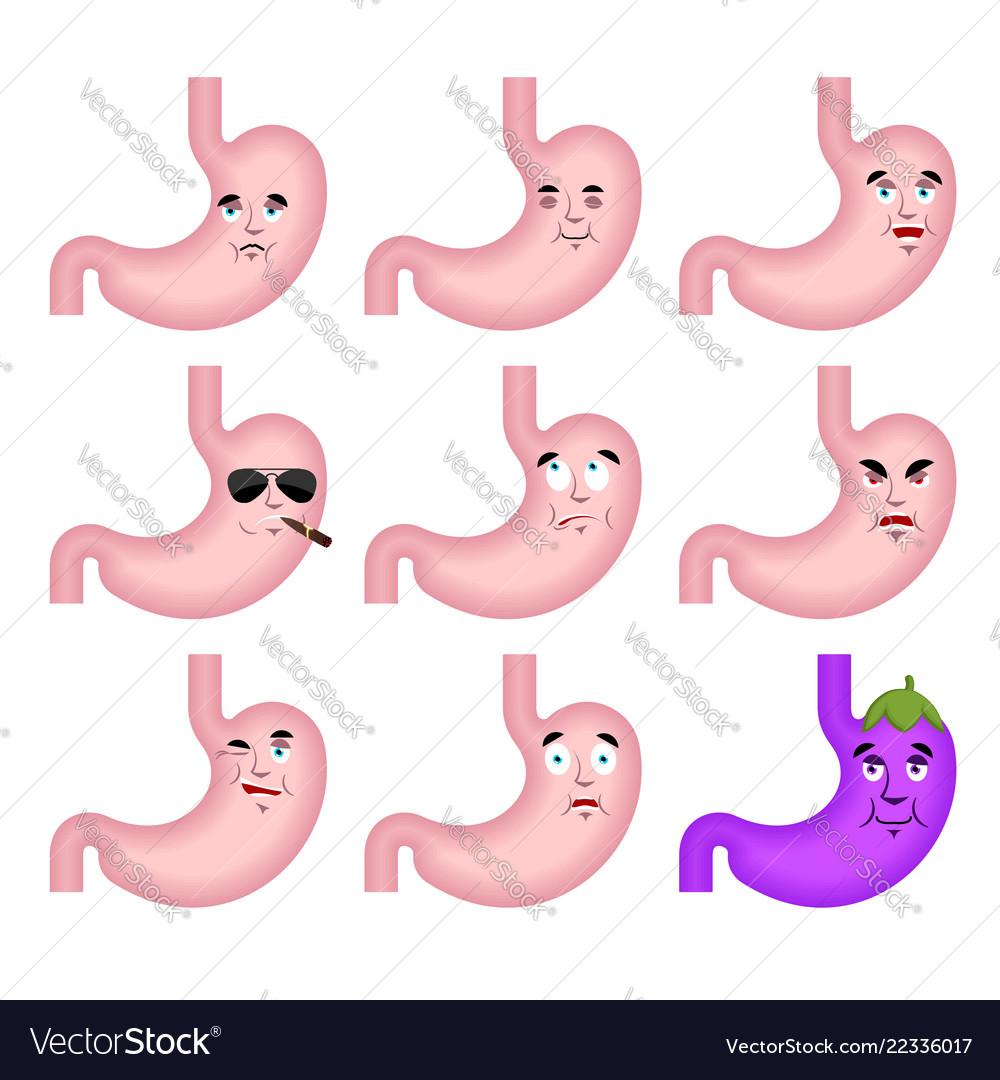 Stomach sad emoji face avatar belly sorrowful