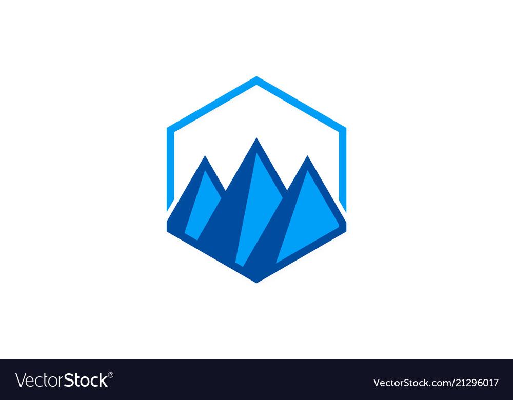 Triangle abstract mountain logo