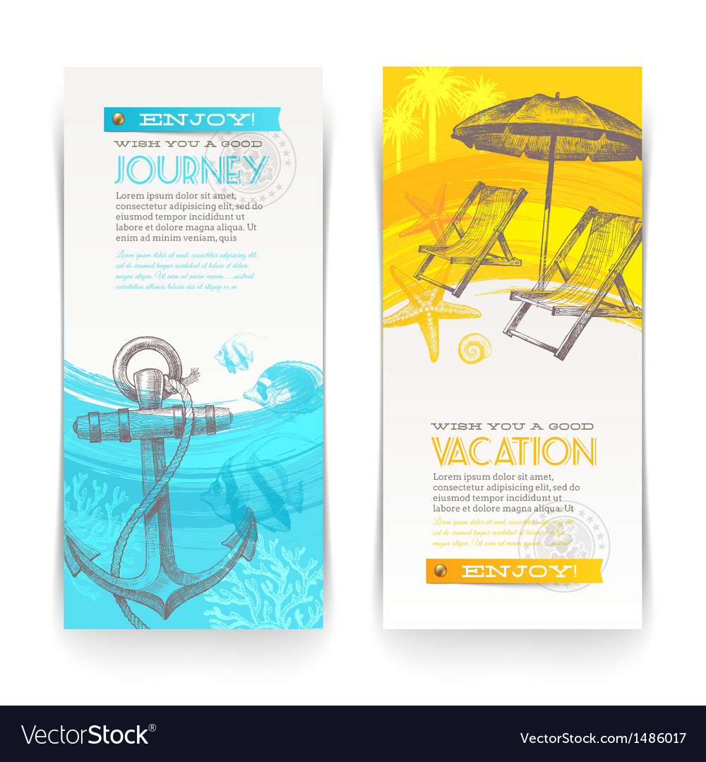 Vacation and travel vertical banners
