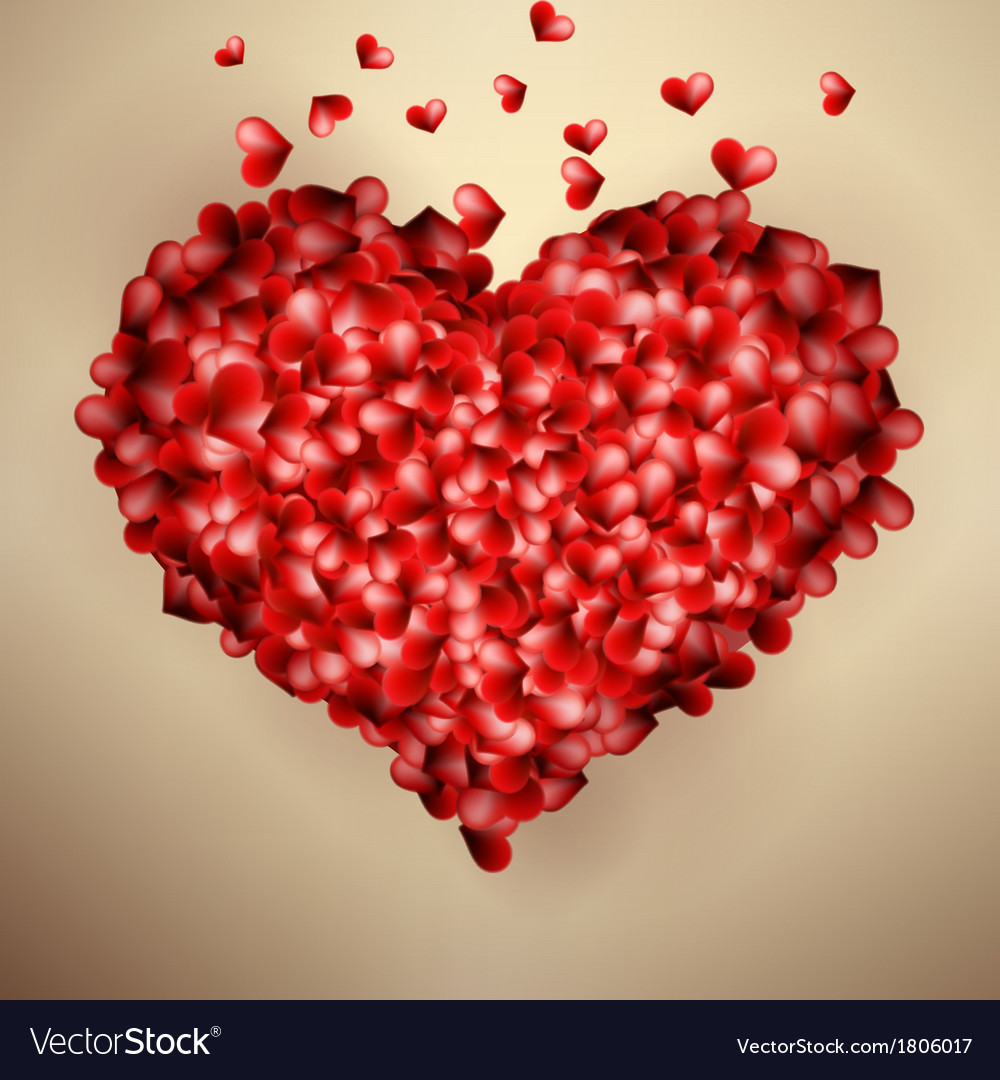 Valentines Heart Template Card Eps10 Royalty Free Vector