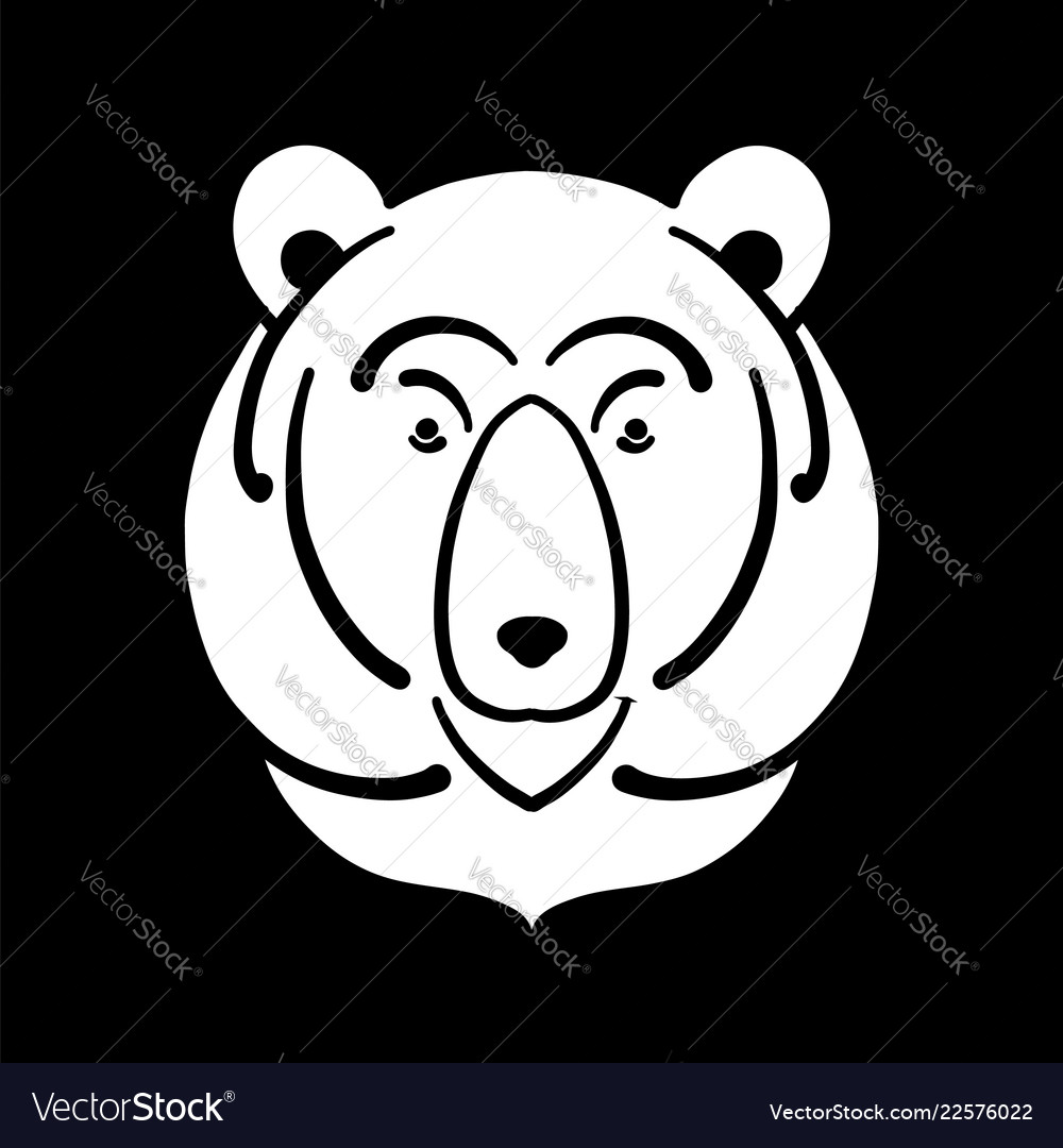 Bear face sketch for your design