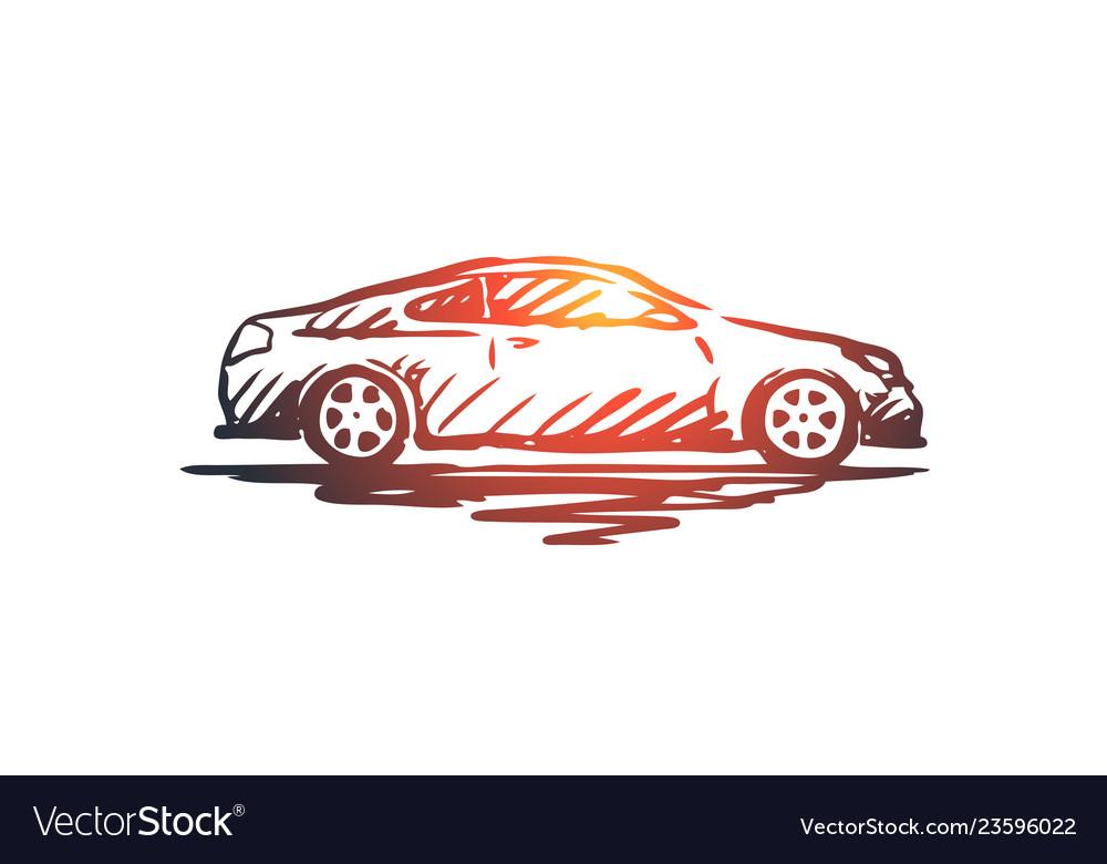Car transportation vehicle auto speed concept