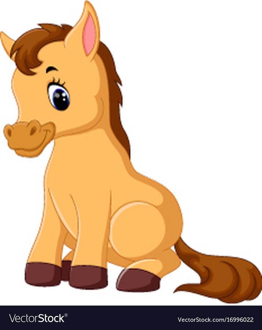 Horse Cartoon Cute horse cart...