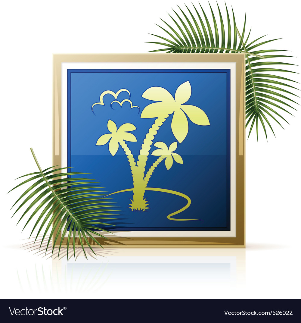 Picture tropic palm vector image