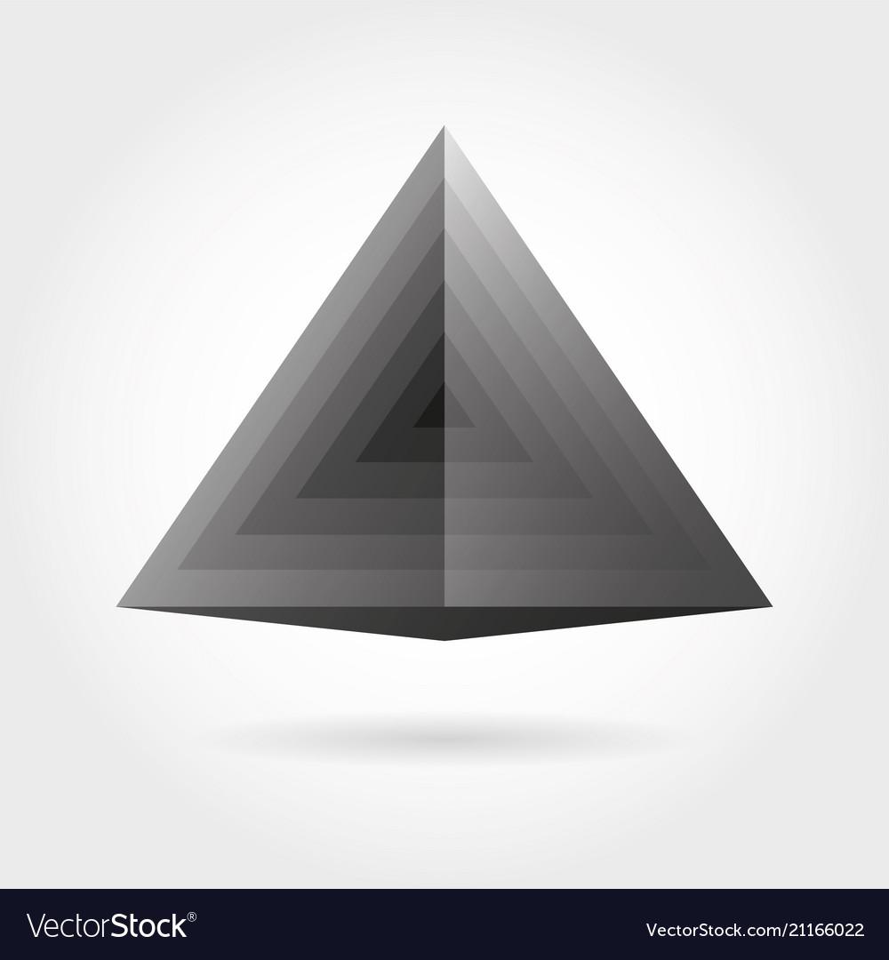 Smooth color gradient triangle icon logo