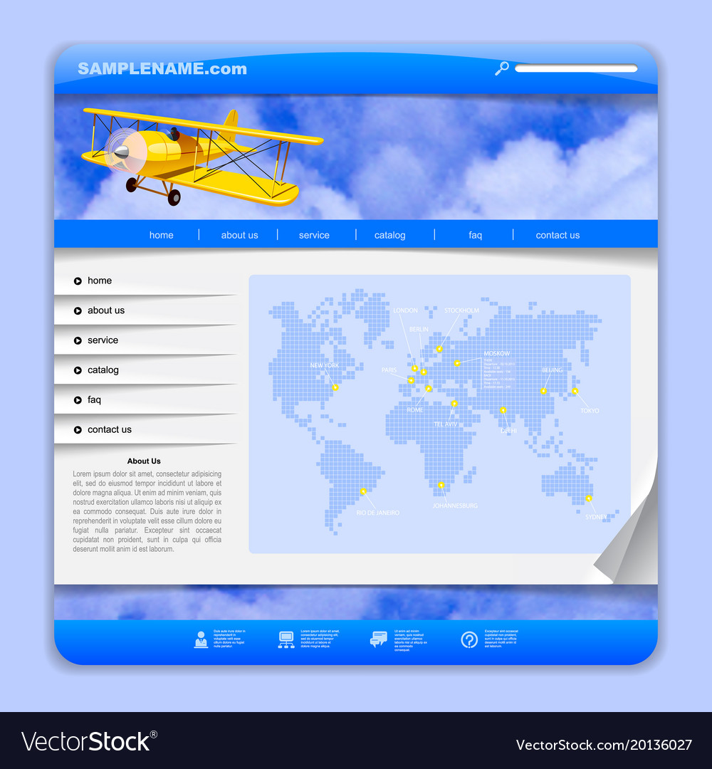 Airlines or travel web design
