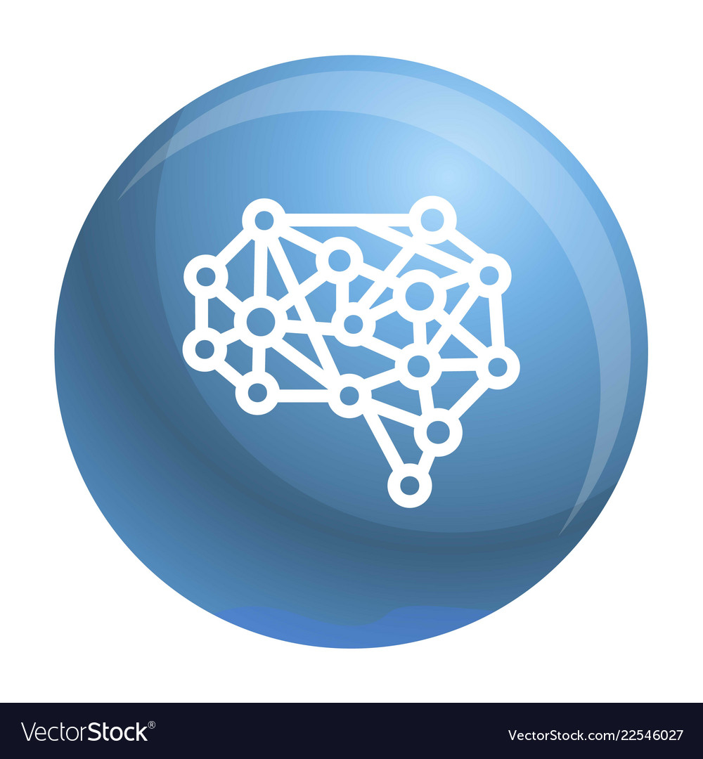 Artificial brain icon outline style