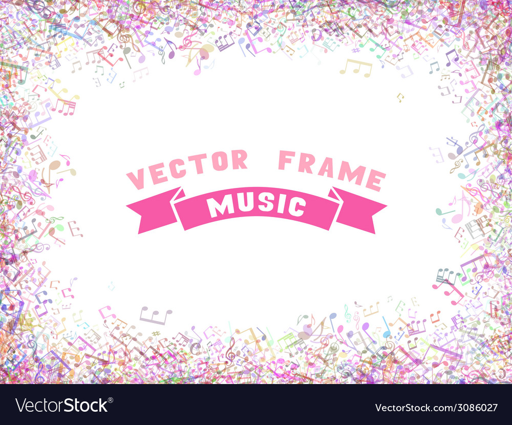 Colorful music frame Royalty Free Vector Image