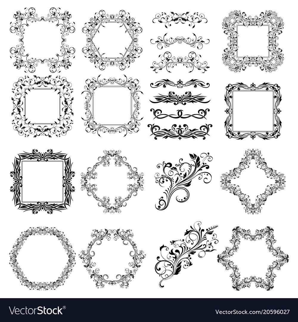 Floral patterns for card and invitation decoration