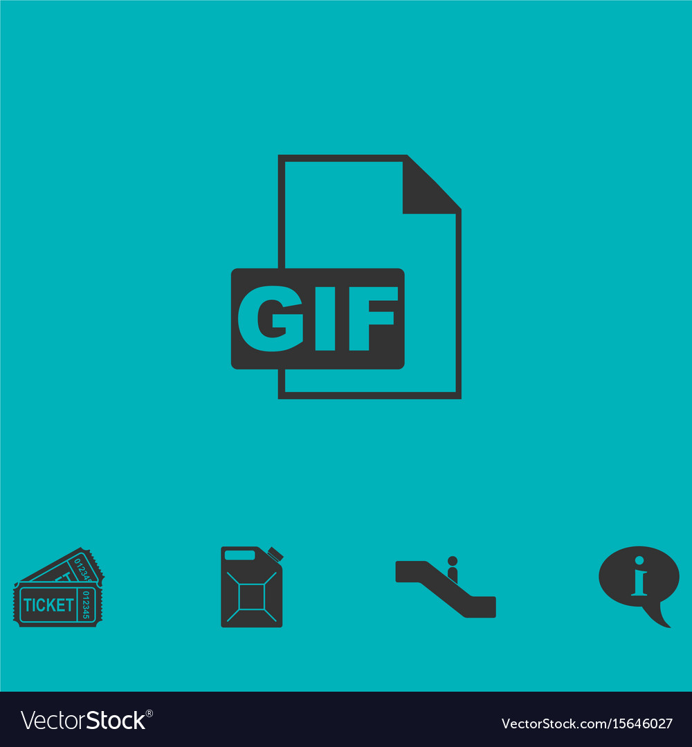 Gif format icon flat