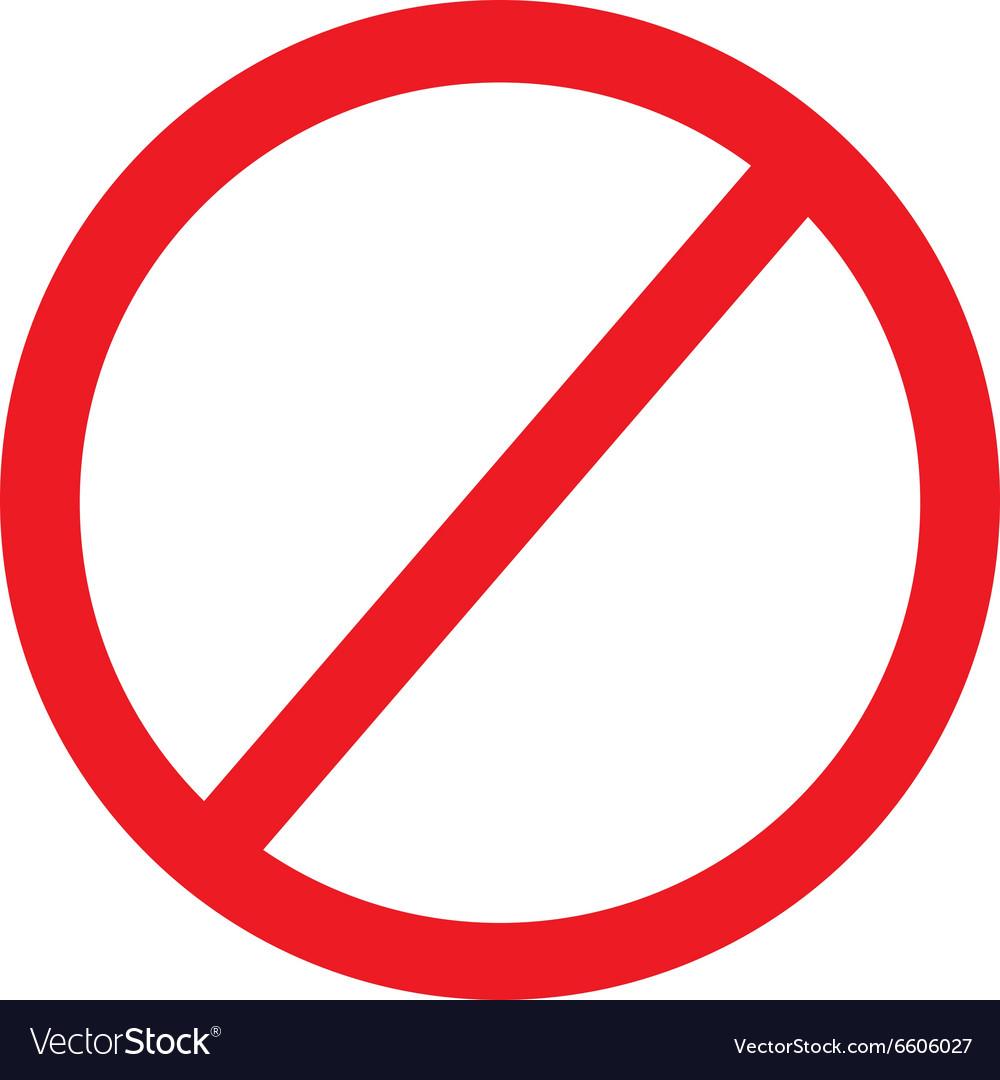 No sign icon