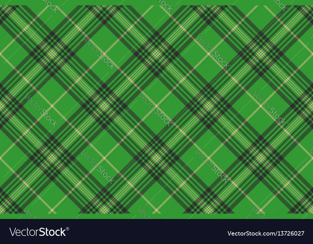 Seamless plaid green tartan check fabric texture