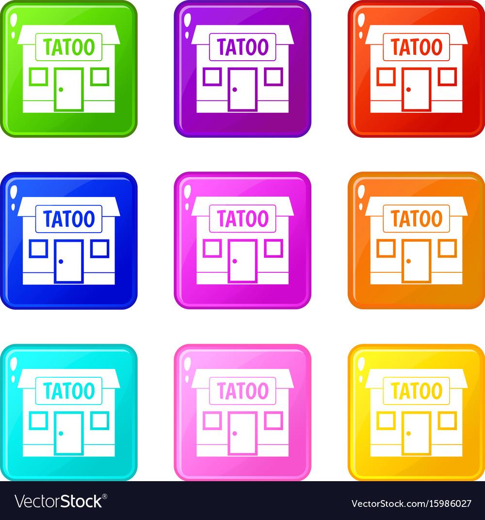 Tattoo salon building set 9