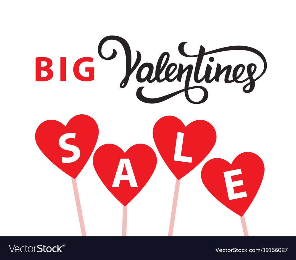 Valentines Day Sale Banner Template Royalty Free Vector