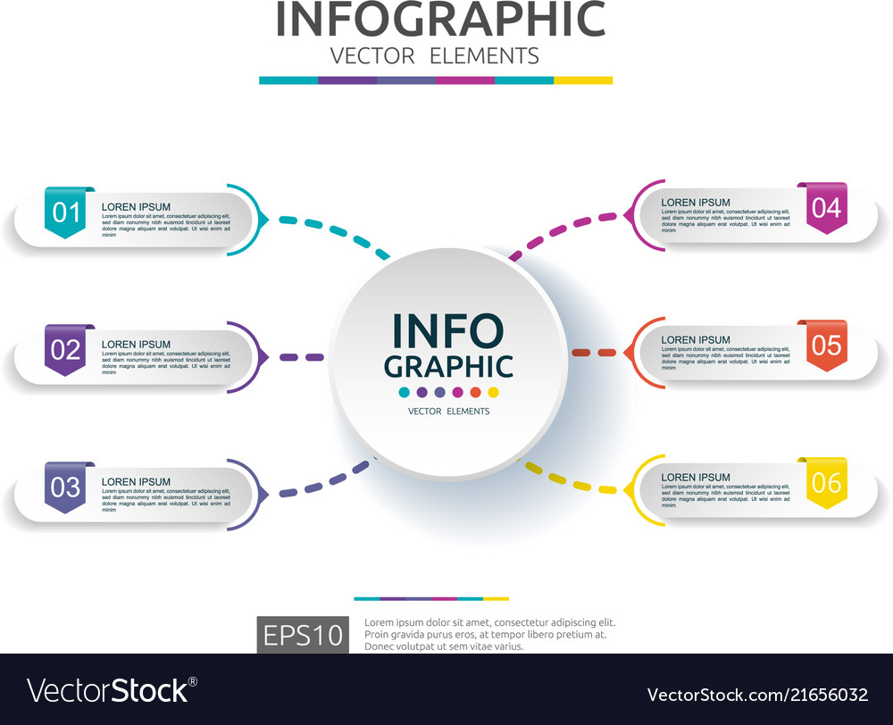 6 steps infographic timeline design template with