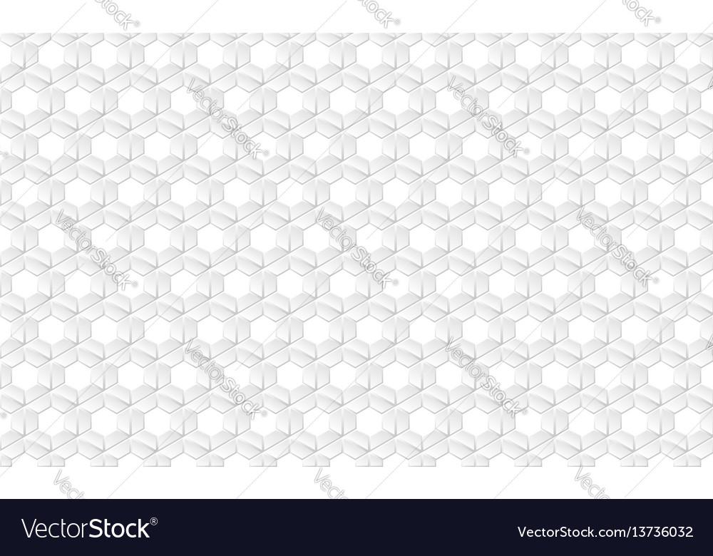 Abstract white futuristic honeycomb cell pattern