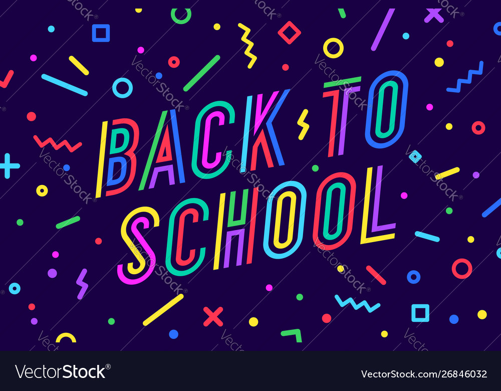Back to school banner speech bubble poster