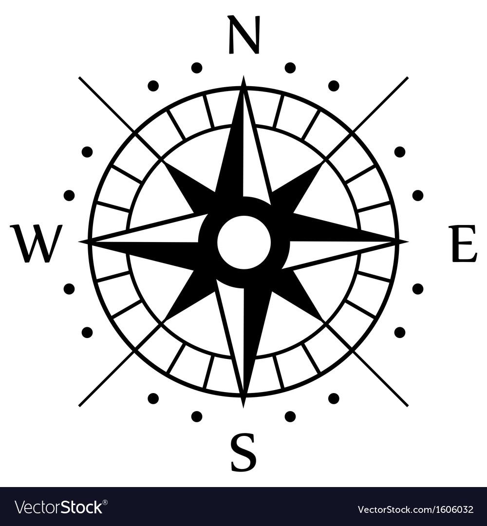 Black Compass Symbol