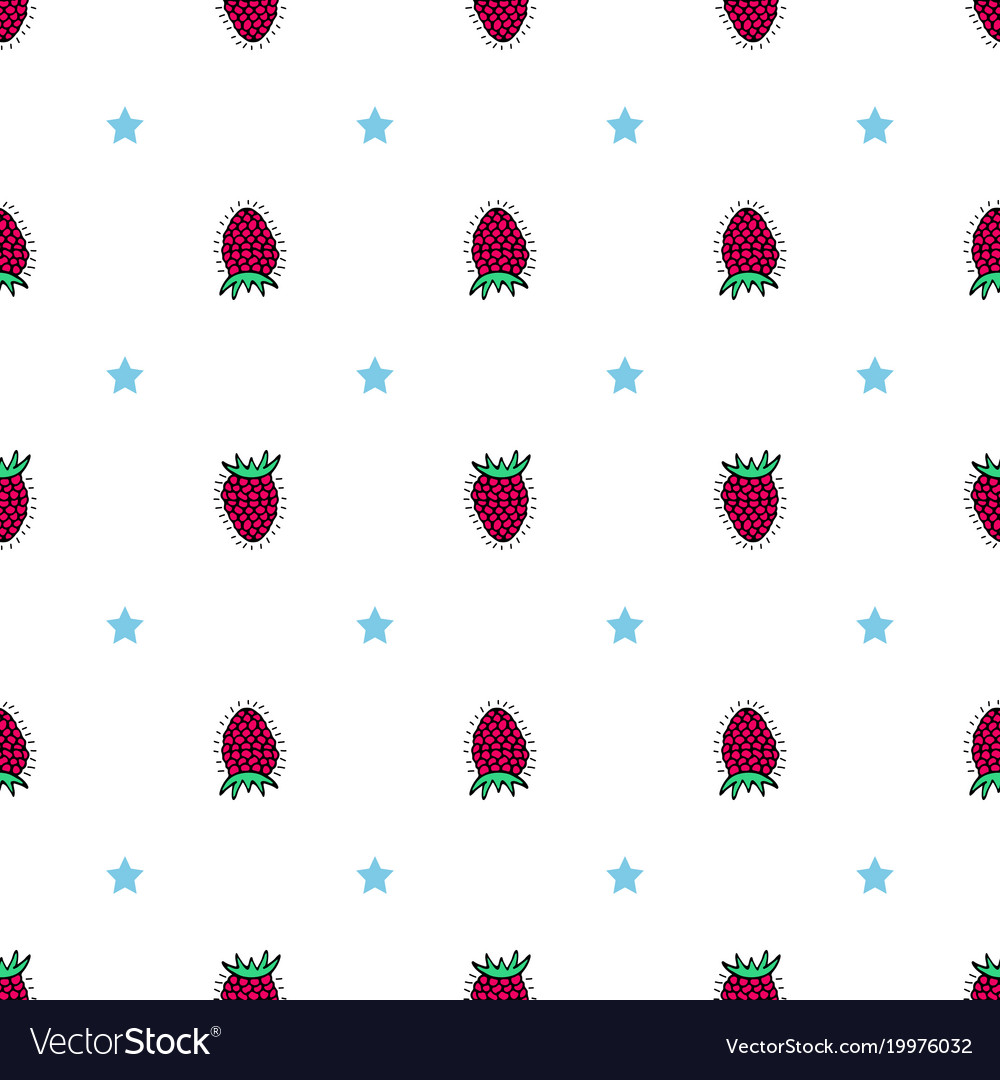 Bright flower seamless pattern with hand-drawn