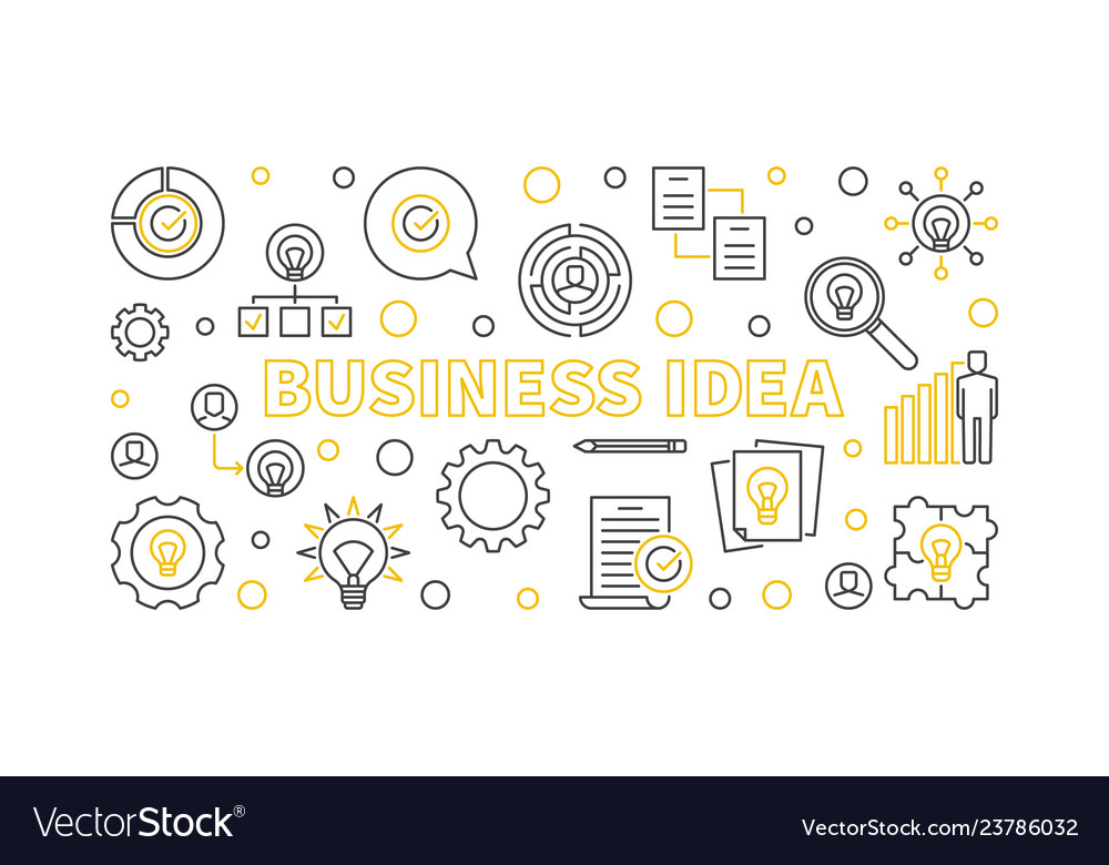 Business idea banner or in