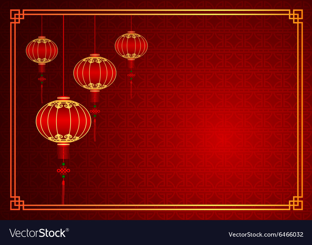 chinese lantern template royalty free vector image