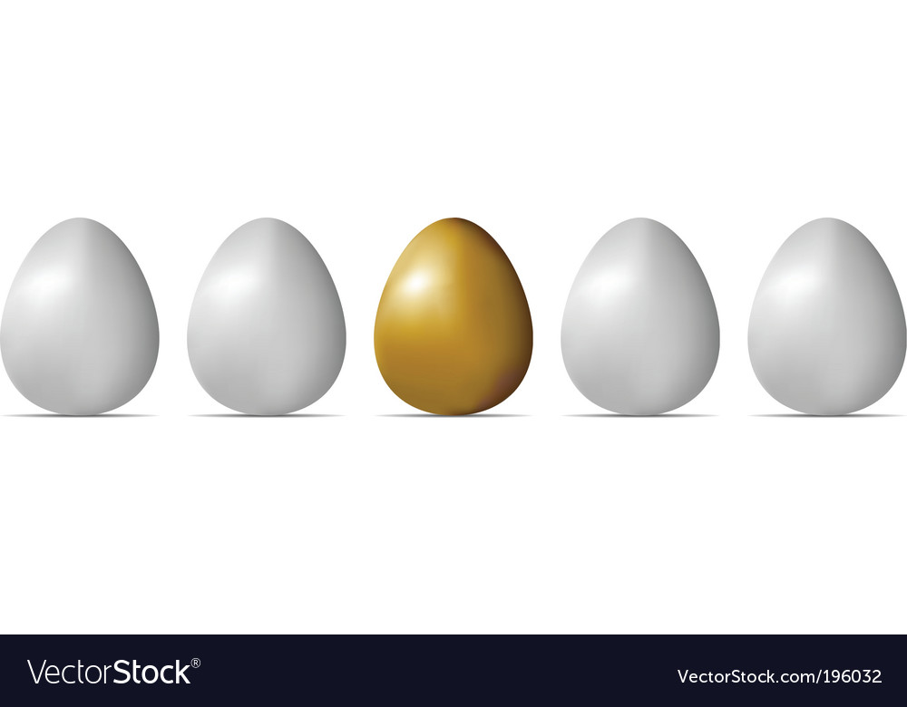 Egg object vector image