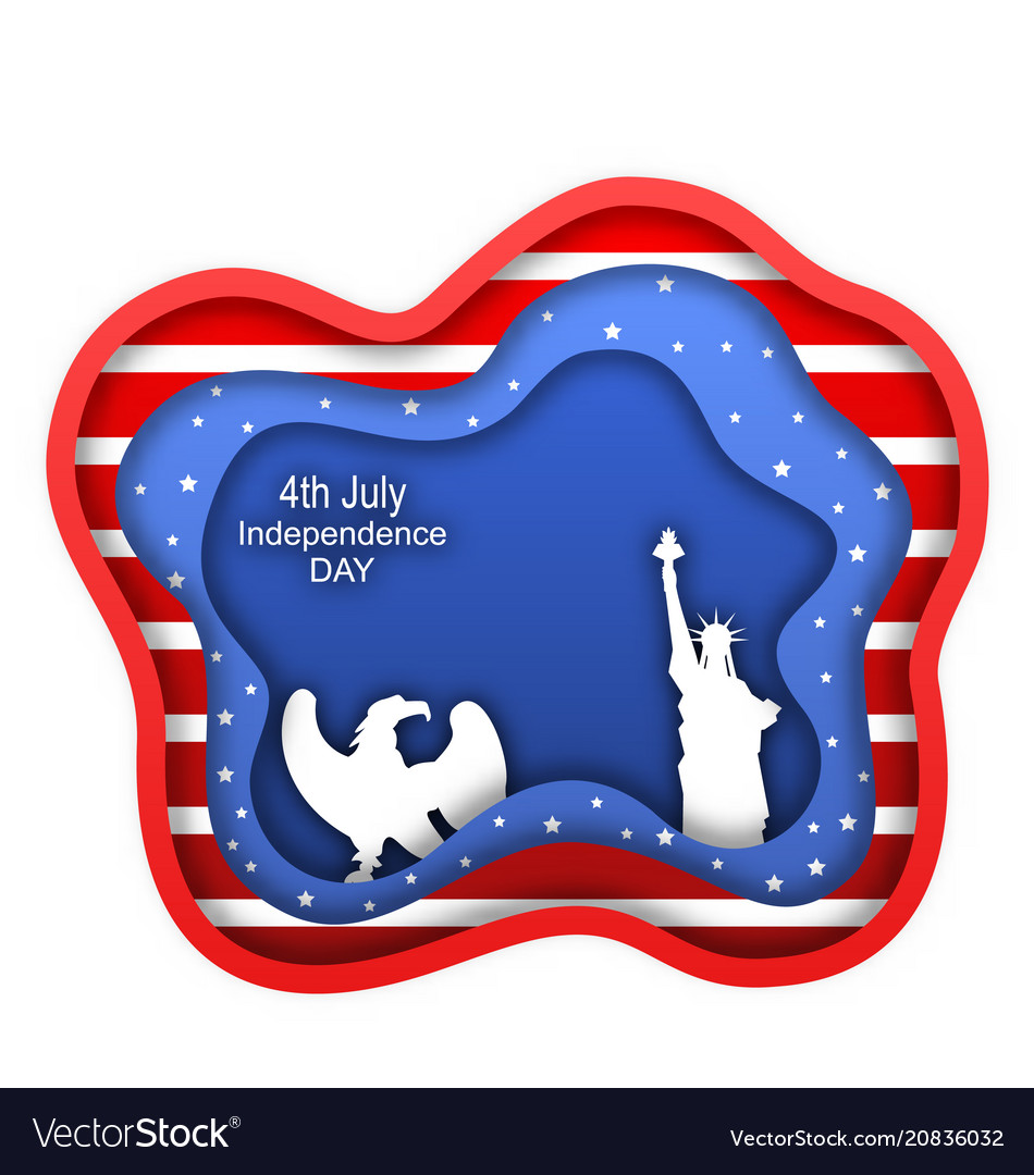 Fourth of july independence day of the usa statue vector image