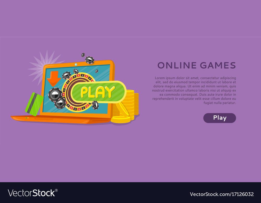 Online games banner laptop casino roulette wheel