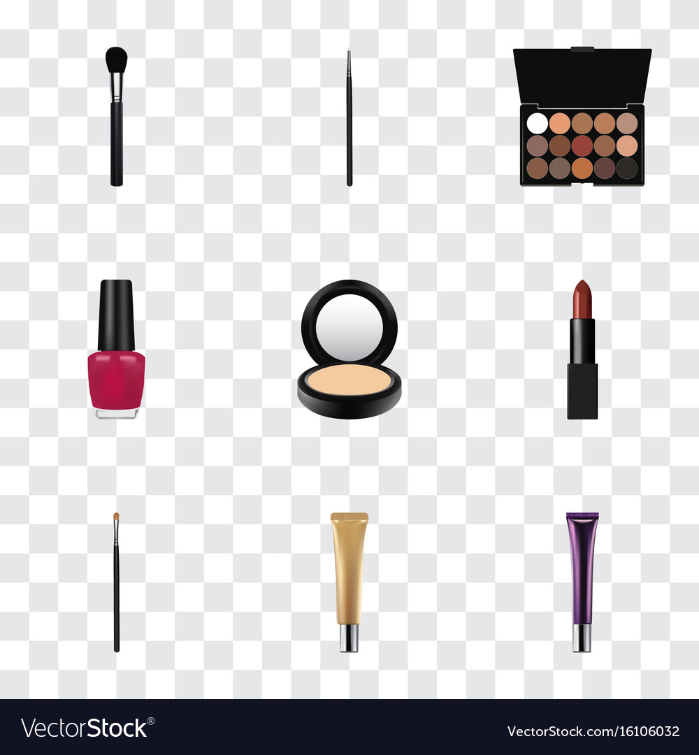 Realistic blusher cosmetic stick collagen tube vector image