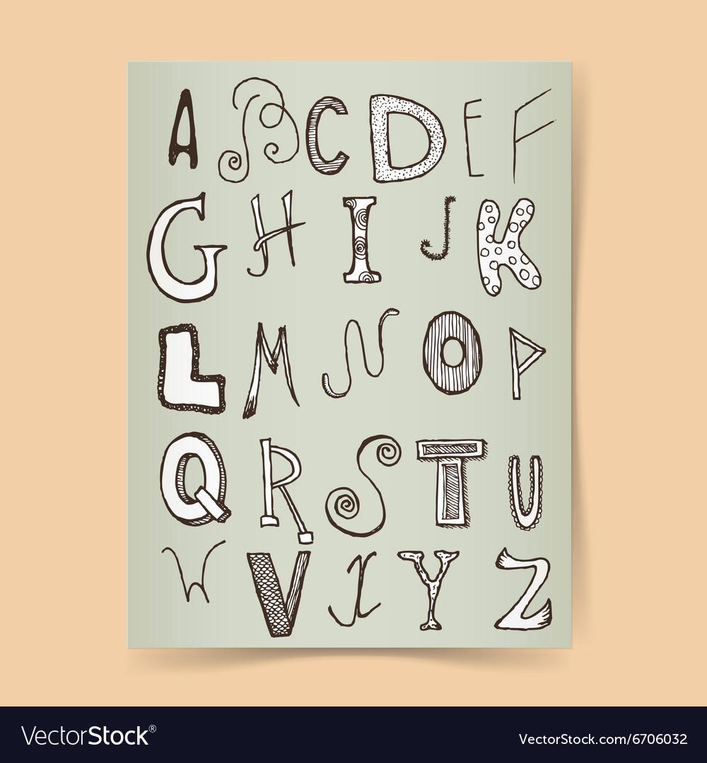 Sketch alphabet poster