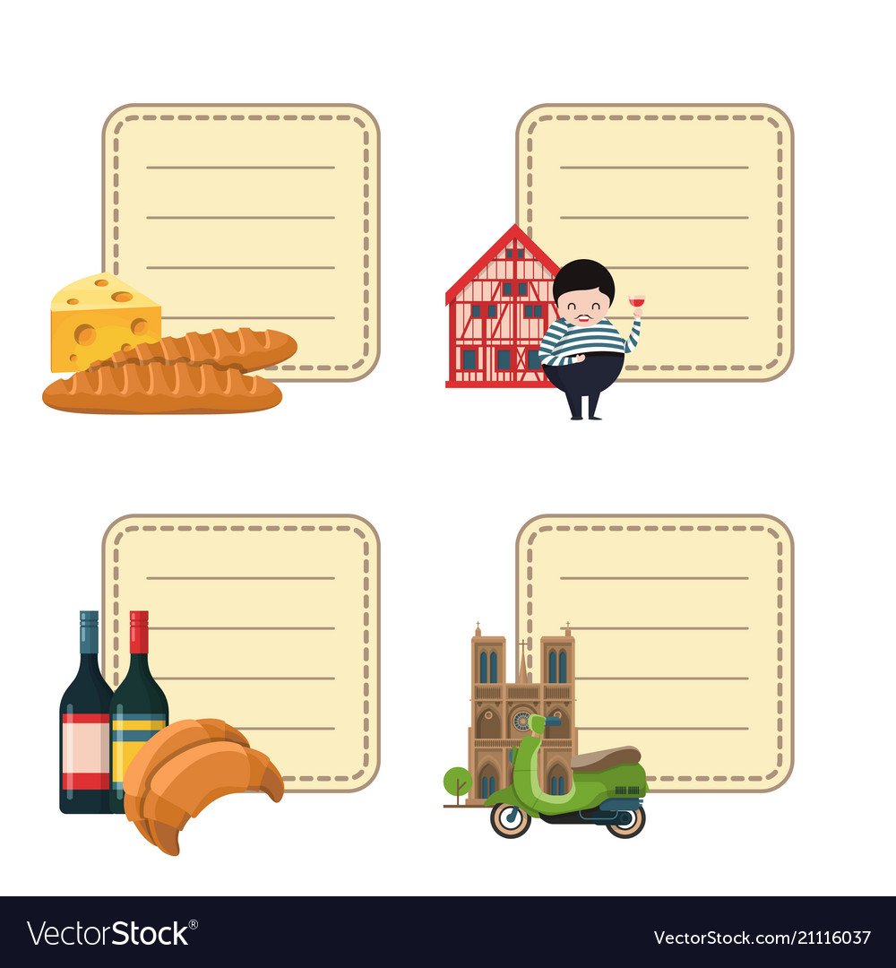 France sights stickers set