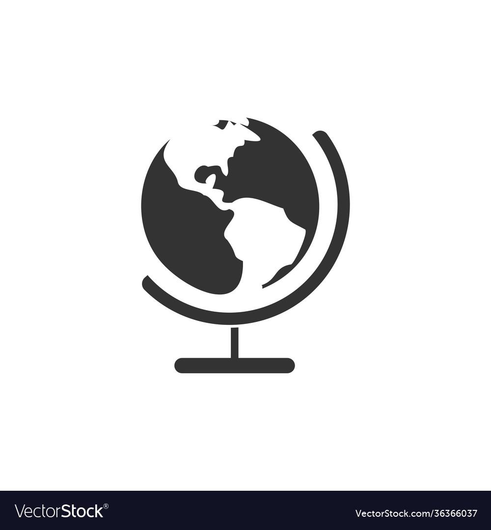 Globe icon design template isolated