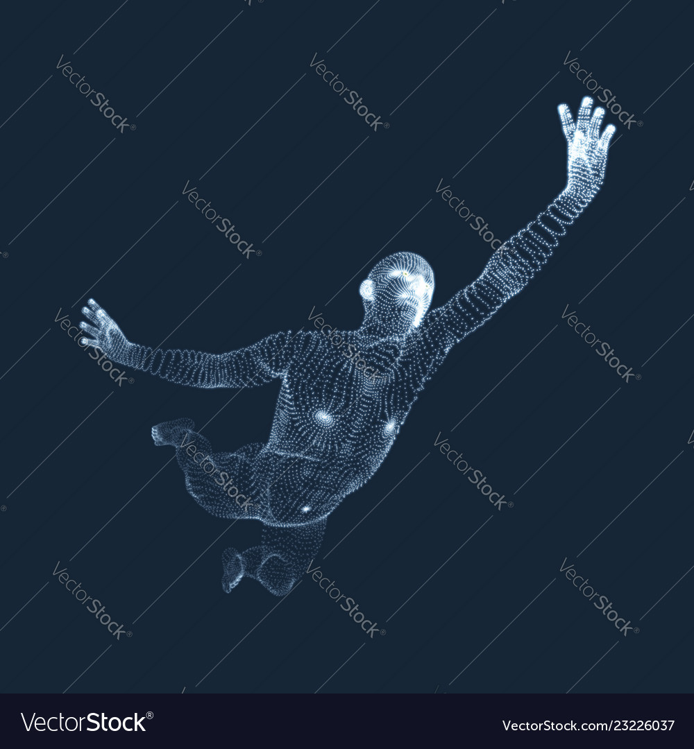 Jumping man 3d model of man human body model