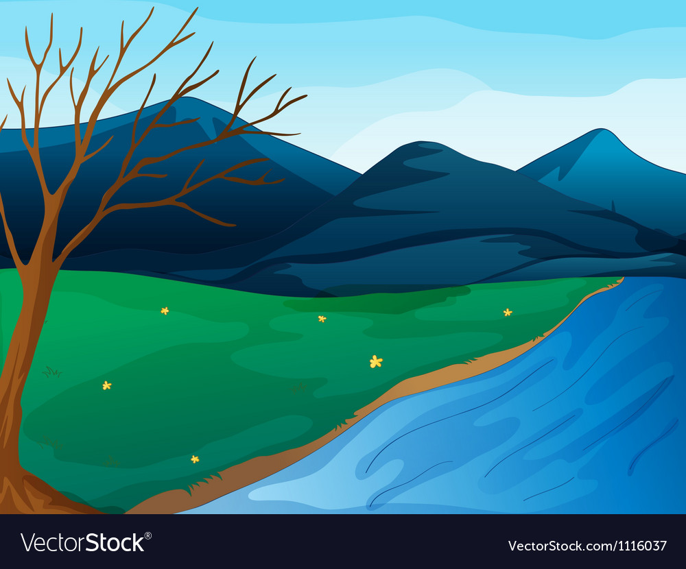 river and mountains royalty free vector image vectorstock vectorstock
