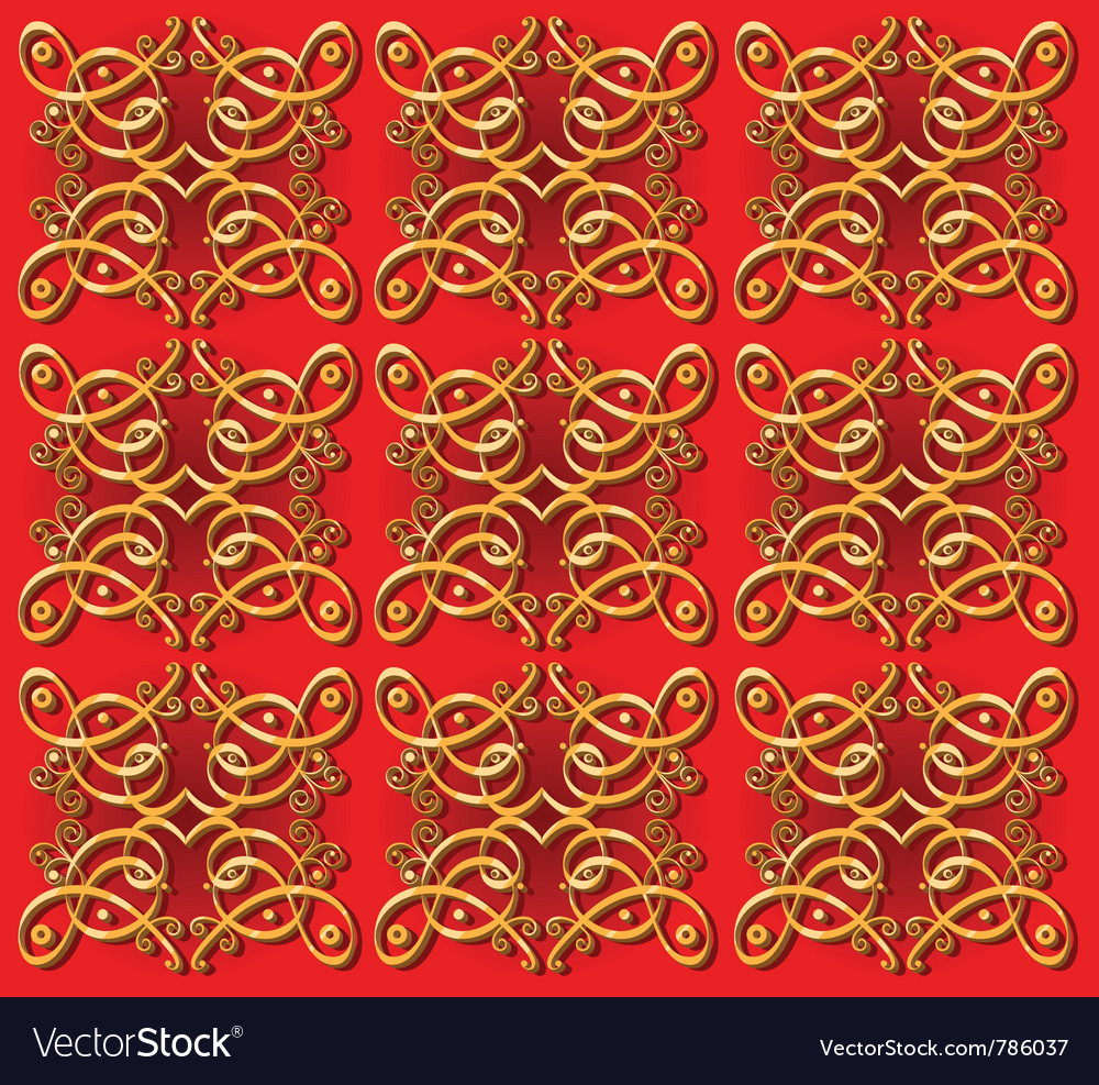 Seamless vintage oriental background vector image
