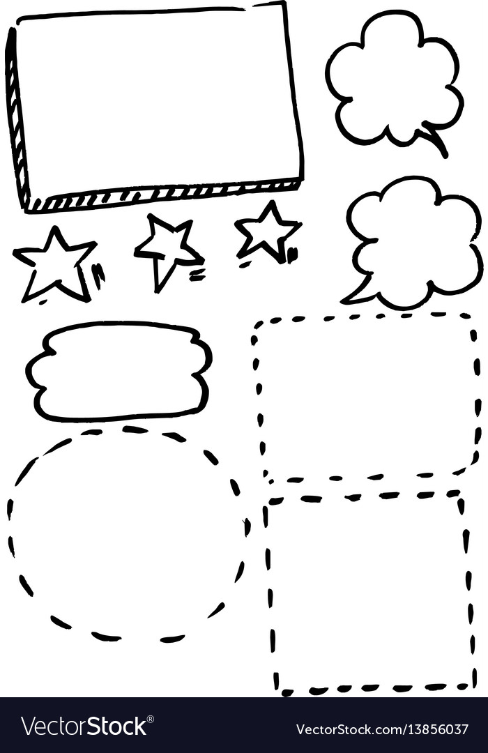 Set of frames hand drawn